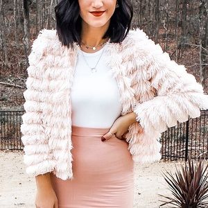 Cute Jacket with Ruffles